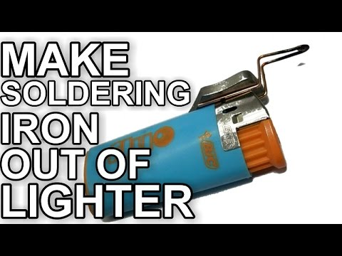 How to make soldering iron out of lighter youtube how to make soldering iron out of lighter solutioingenieria Images