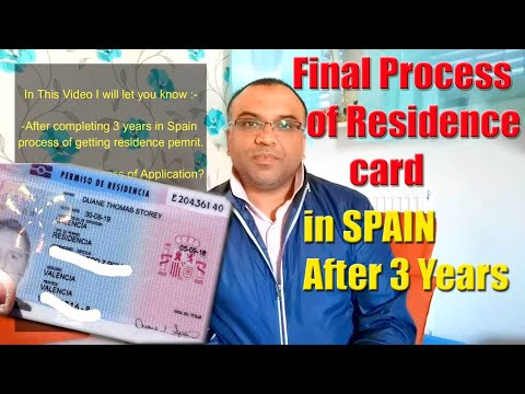 ENG- Residence Card of Spain , Process details after 3 years living in SPAIN.