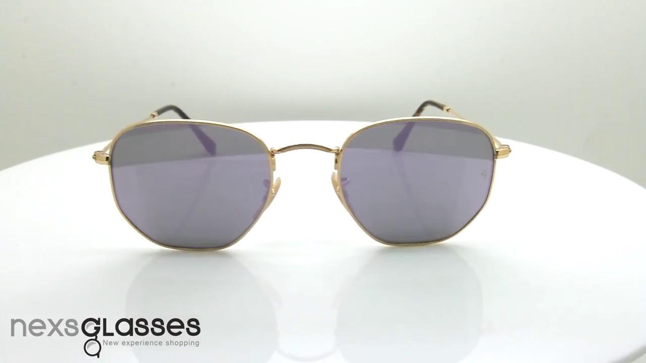 แว่นกันแดด RAY-BAN HEXAGONAL FLAT RB3548N 001 80 51 - YouTube 7ee6e81147