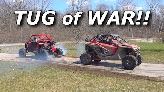 TUG OF WAR!! X3 vs RZR Turbo S vs KRX vs Talon vs Pro XP vs Defender!