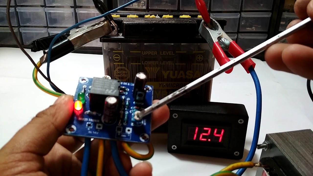 Cara Membuat Cas Aki Full Otomatis Auto Cut Off On Kit Charger Accu 12v Automatic O