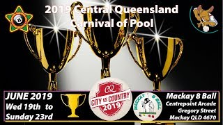 2019 CQ City v Country - Men's + Women's Zone Trials - Eight Ball - Cue Sports TV