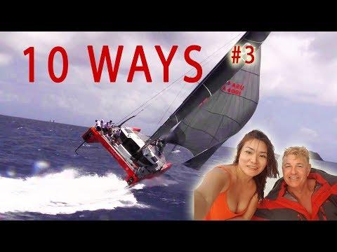 Can Our Catamaran Capsize ? - Ep 45 Sailing Luckyfish 10 Ways #3