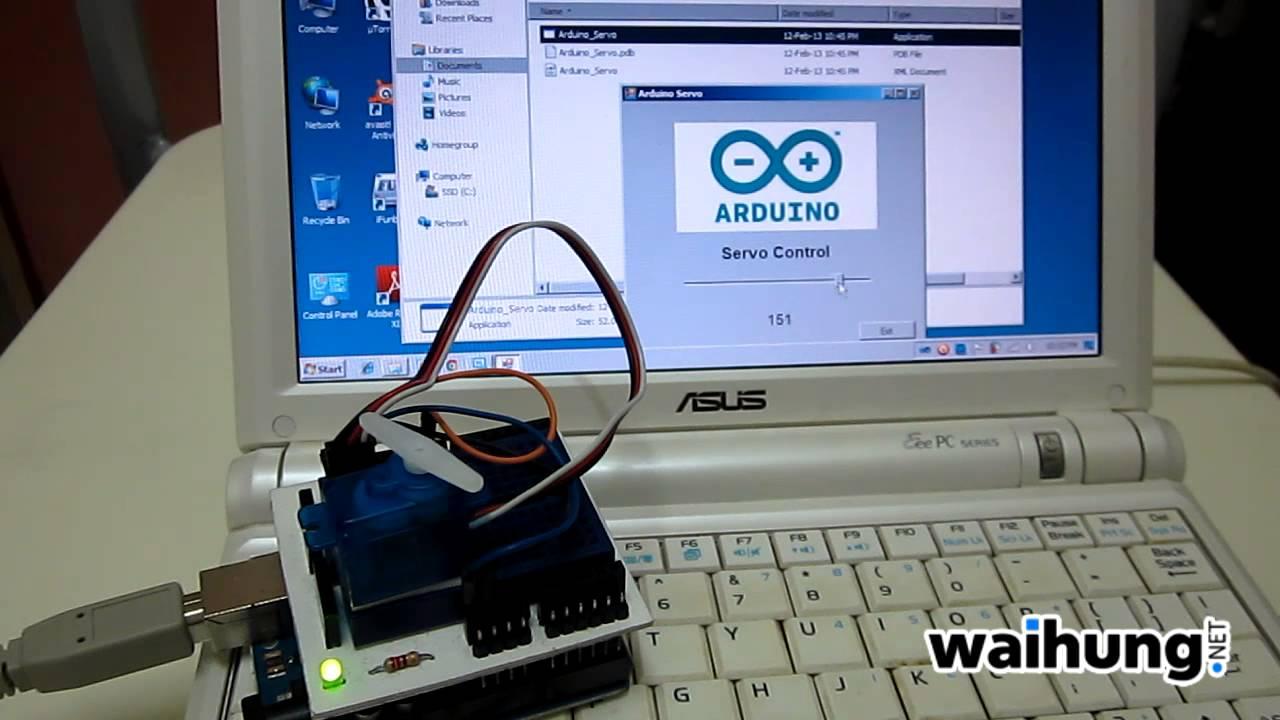 Arduino visual basic servo control youtube