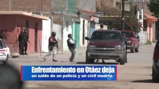Enfrentamiento en Otáez deja  un policía y un civil muerto, …
