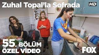 Mutfakta eğlenceli anlar...  Zuhal Topal'la Sofrada 55. Bölüm