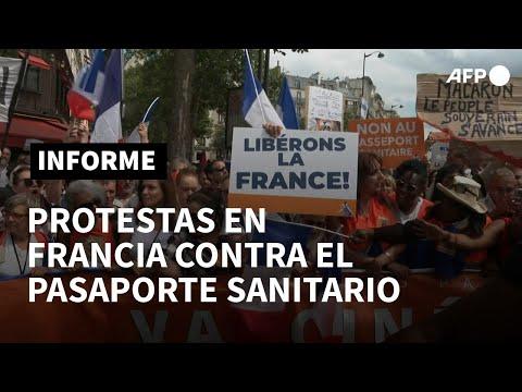 Más de 200.000 personas se manifiestan en Francia contra el pasaporte sanitario | AFP