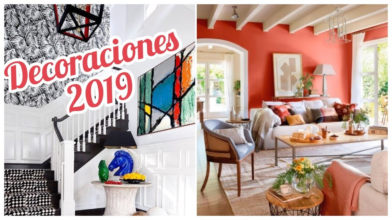 Tendencias en decoraciones 2019 colores muebles y for Tendencia papel tapiz sala comedor sala