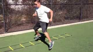 Ladder Drills: Icky Shuffles w/ Stick | Sweat City Athletic Performance Training