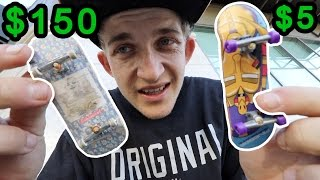 One of Garrett Ginner's most viewed videos: $5 Tech Deck VS $150 fingerboard