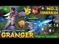 Granger MVP 14.2  Lightborn Overrider Vs Supreme No.2 Esmeralda - Top Global Granger Ali - ML