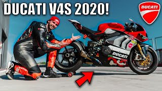 Moving on to my COMPETITOR? - DUCATI V4S 1100cc 2020 TEST RIDE plus NEW SUIT!