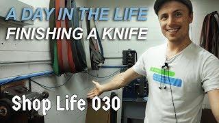 Finishing Knives w/ Yo! (polishing, tumbling & anodizing) - Shop Life 030
