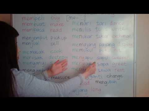 LEARN INDONESIAN LANGUAGE #25 VERB version 1.1 Prefix me-...