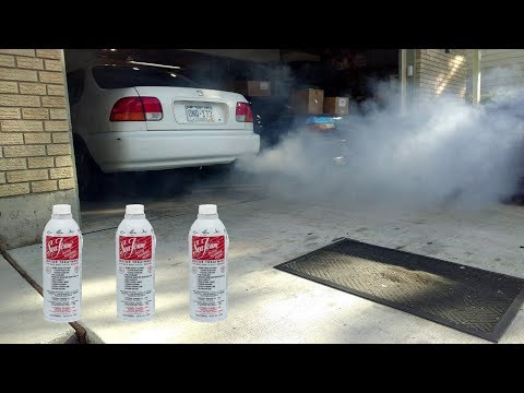 Seafoam in the intake - how well does it work?  Smoke!
