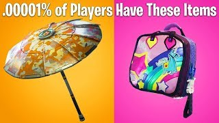 Rarest Skins Gliders and Pickaxes in Fortnite Battle Royale!!