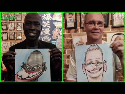 Amazing Caricature Artist | People Who Are At Another Level | Satisfying Video | UpLife