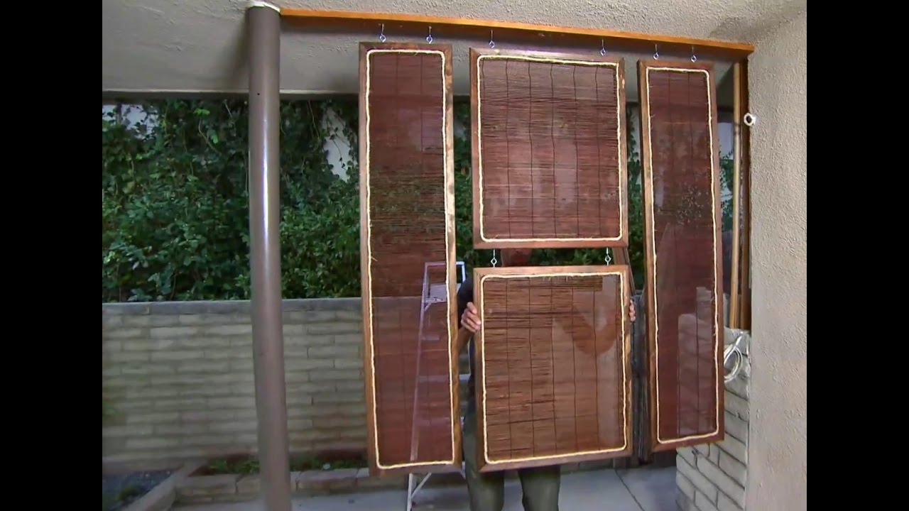 How to Create an Indoor Privacy Screen - YouTube