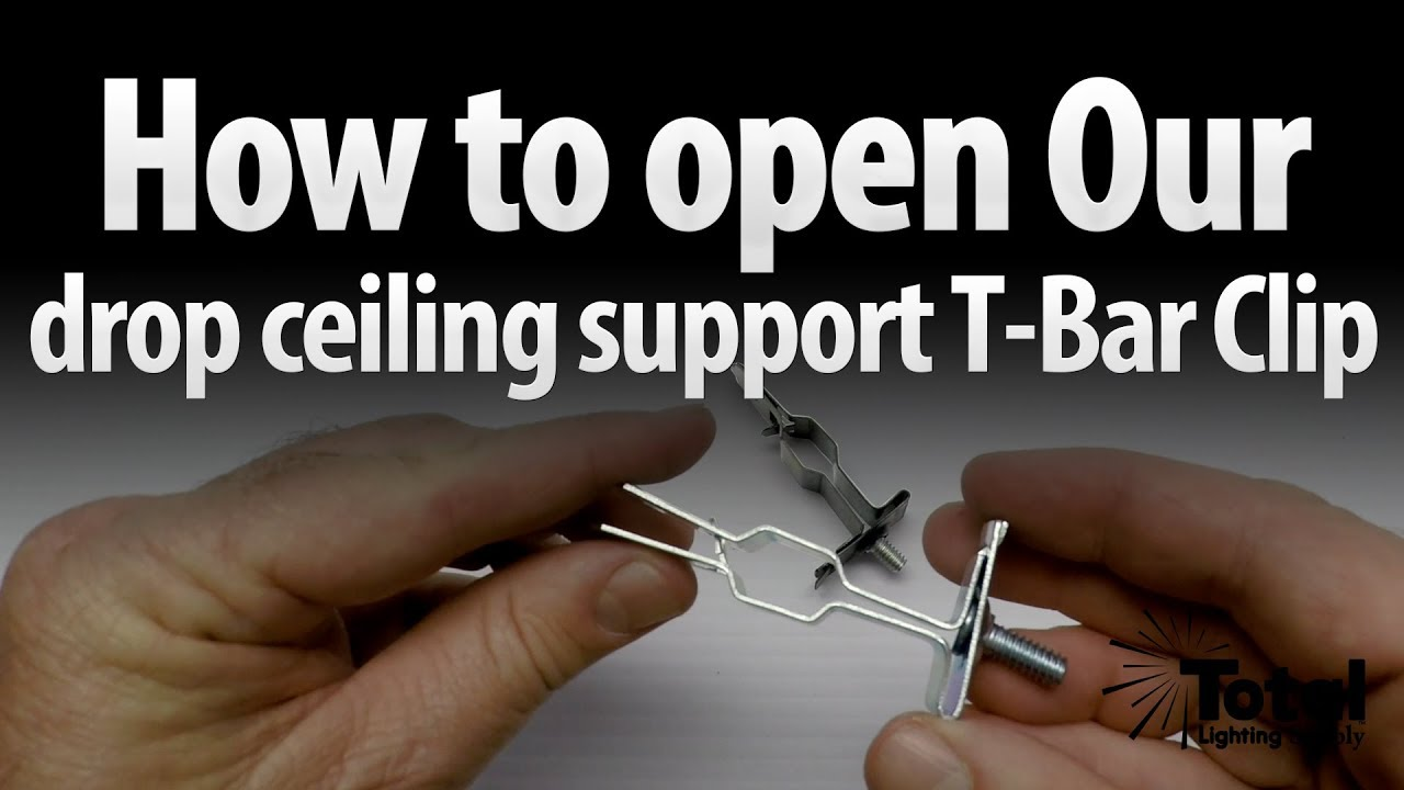 How To Open Our Drop Ceiling Track Lighting Support T Bar Clip By Total
