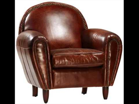 Club Chairs & Living Room Chairs | Leather Club Chair - YouTube