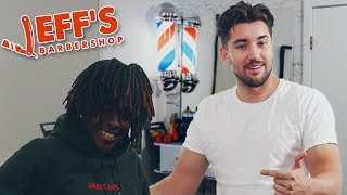 SoundCloud Rapper Cuts all his Hair Off | Jeff's Barbershop thumbnail
