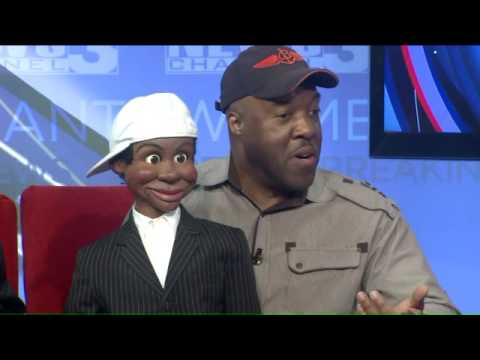 Jammin Jay LaMont and Ventriloquist Willie Brown are performing at Chuckles!