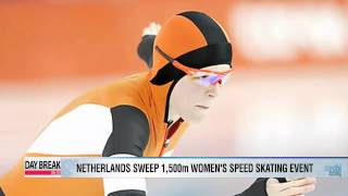Netherlands sweep 1,500 women's speed skating