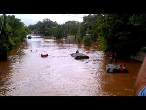 Hurricane Irene, National guard almost drown Manville, NJ