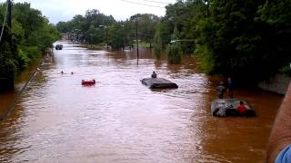 Hurricane Irene, National guard almost drown Manville, NJ