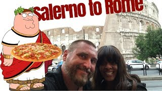 We rushed to get on a ferry to Salerno and then Rome on a high speed train.