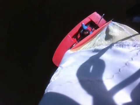 Sailing at Tamar Lake with a mast camera
