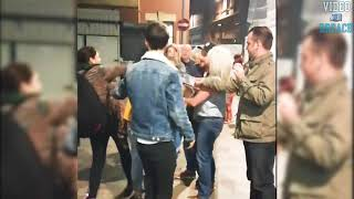 Bouncer Throws 3 Women To The Ground Who Were Attacking Him