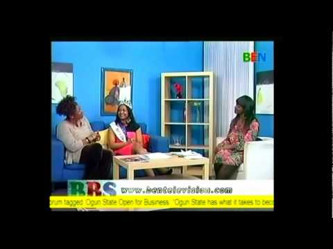 Face of Islington/Miss Charity Europe Queen Chioma - on Ben TV Breakfast Show - 29th of March 2012