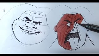 HOW TO DRAW Maui (Moana/Vaiana) 10 quick sketches - Speed drawing