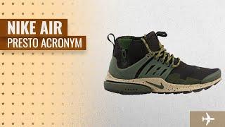 Nike Air Presto Acronym Collection: NIKE Mens Air Presto Mid Utility Shoes Velvet Brown/Cargo