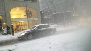 Walking Through Snow Storm Niko In Mahattan