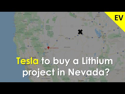 Tesla to buy a Lithium project in Nevada?