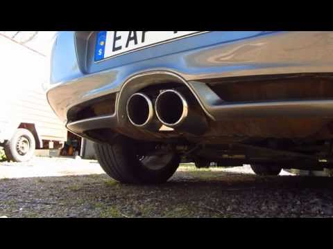 2004 Porsche Boxster S exhaust sound. Stock and modified exhaust