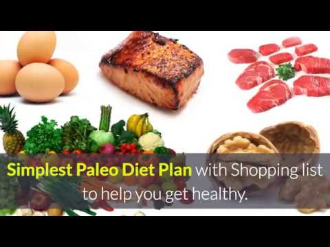 Free Paleo Meal Plan + Shopping List for weight loss