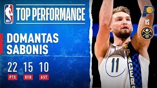Domantas Sabonis Collects First Triple-Double!
