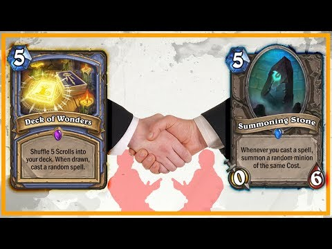 Hearthstone: Summoning Stone and Deck of Wonders Working Together