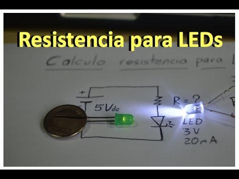 ✅ Que resistencia lleva un LED
