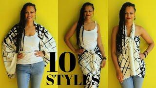 1 Shawl, 10 Ways To Wear It & …