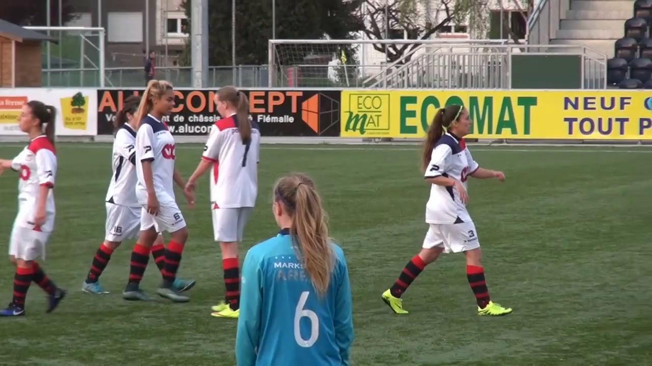 Foot fu00e9minin RFC Liu00e8ge u2013 Gru00e2ce Hollogne 9-0 les buts - YouTube