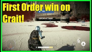 Star Wars Battlefront 2 - Winning as the First Order on Crait! | Captain Phasma gameplay!