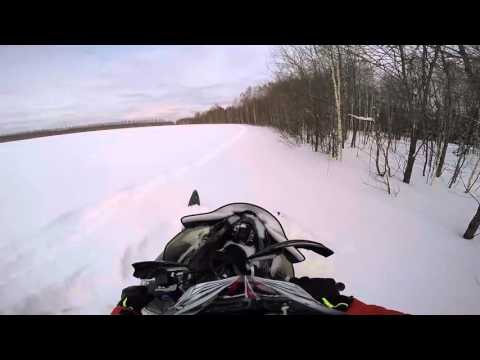 Застрял на снегоходе Yamaha VK540 и Nytro