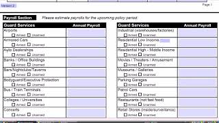 How to Fill out an Insurance Application for Security Business