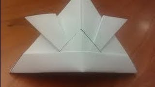 How To Make An Origami Samurai Hat (hd)