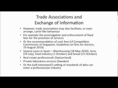 """Trade Associations  and Exchange of Information"" Richard Whish, Parte 1"