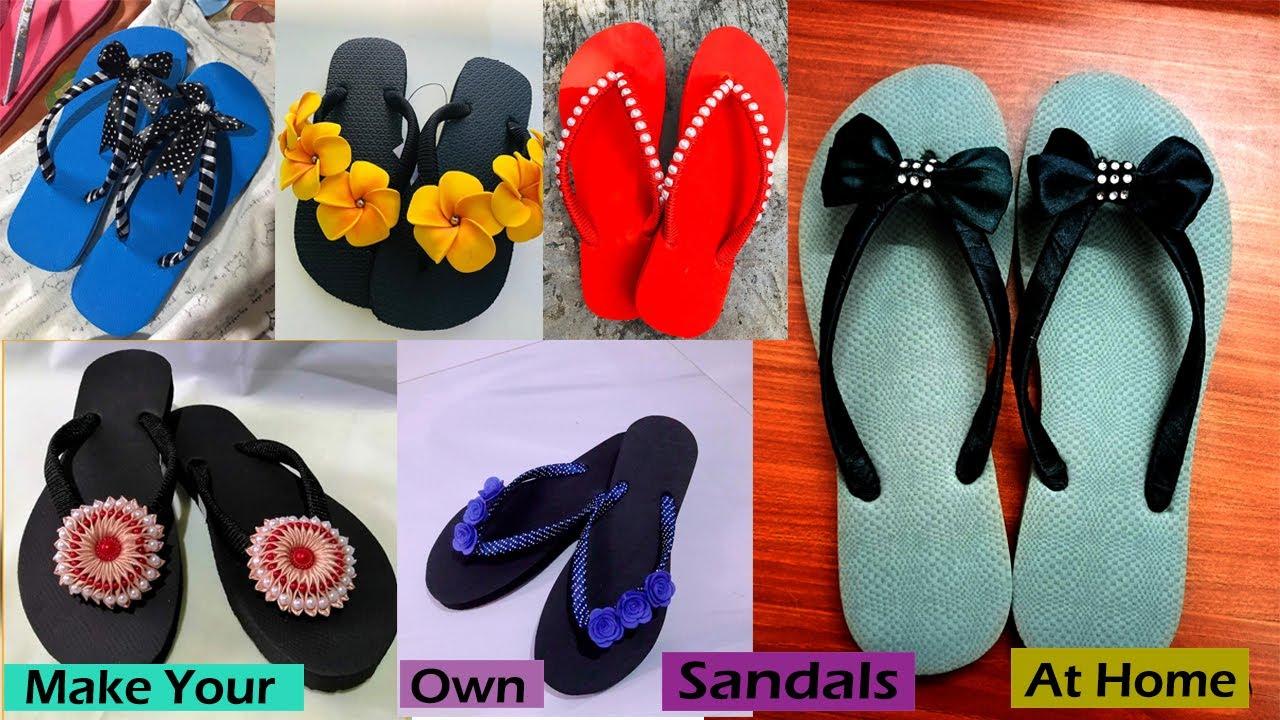 Download DIY indoor slippers from flip flop   Handmade Sandals For Women   DIY flip-flop Making Tutorials-01